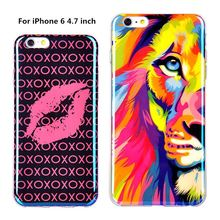 TPU Case for iPhone 6 New Arrival For Apple iPhone 6 Case IMD Lions Tigers Blu-ray Soft Silicon Design 4.7inch Phone capa Covers