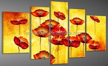 wall art flower painting designs on canvas for home decoration
