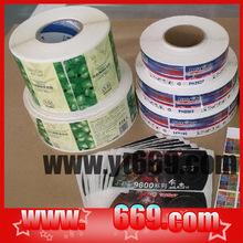 Custom label printing machine roll sticker,roll bottle label sticker
