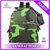 fashion trendy nylon camo jungle backpack for camping