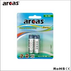 r6 aa battery 1.5v um3 carbon zinc battery