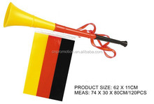 2014 popular sales Vuvuzela plastic Football Horn With Flag