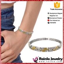 Germanium Ion Energy Balance Sport 316l men charm bracelets