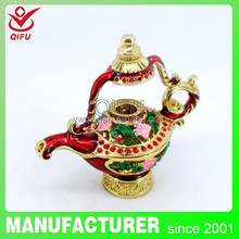 2014 New fashion and hot sale products Aladdin Lamp gfit box item metal decoration for home(QF3276)