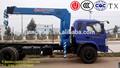 chinabuena calidadfabricante 7 toneladas de pequeño camión montado telescópica hidráulica de la grúa móvil para la venta
