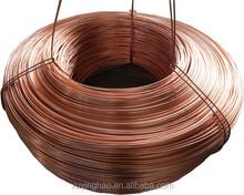 copper rod 8 mm price pure copper wire 99.99% /copper wire rod 8 mm
