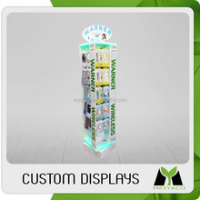 2015 customized top sell magnetic levitation led lit display stands