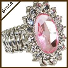 Latest Arrival Rhinestone Crystal Ring, Custom Jewelry Fashion Wedding Ring