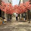 Wholesale indoor decoration garden flower arch wedding arch artificial cherry tree