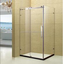 Foshan stainless steel sliding glass cheap shower cubicle