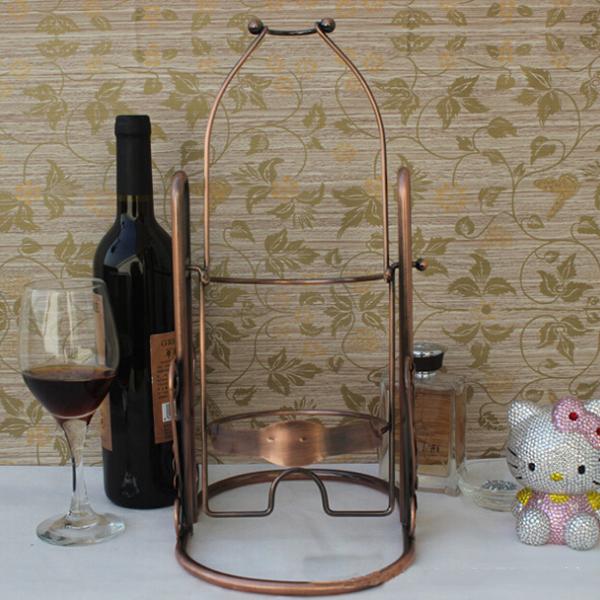 Bar Club Table Metal Bottle Wine Shape Wine Rack