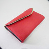 Exquisite hadicraft New Designer Fashion PU leather crazy red metal frame wallet