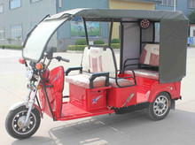Three Wheels Electric Passenger Rickshaw / 5 People Load Battery Tricycle