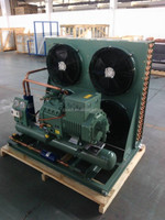 Open Type condensing unit with Bitzer semi-hermetic piston compressor 4VES-10 for cold room