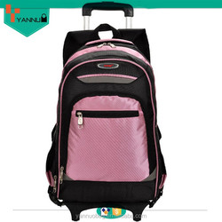 hot new product durable comfortable waterproof nylon backpack with wheels for teenagers