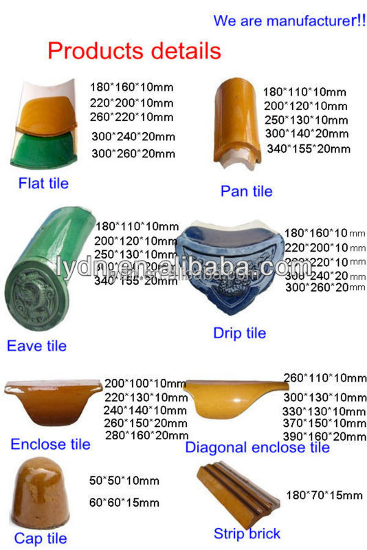 Chinese types of roof tiles covering roofing buy types for Types of roof covering materials