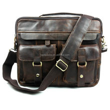 100% genuine leather men bag leather men's handbags