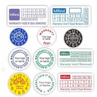 Custom round warranty sticker labels, warranty sticker void if tampered for repair or fix warranty seal use