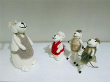 wool felt NEW fashion moder christmas gift sheep mouse 2015 christmas home decoration