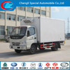 Factory direct selling live fish transport truck refrigerated freezer truck good price refrigerated van truck
