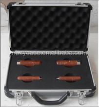 ningbo factory custom aluminum tool box with cut-out foam insert, custom made tool boxes
