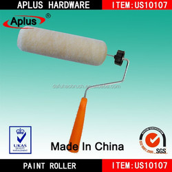 wool paint roller brush with plastic handle/epoxy paint roller