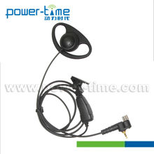 Data radio headset with D shape Ear-receiver for Hotel, Walmart Staff.