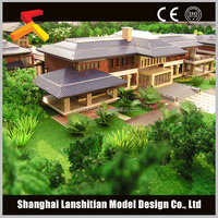 miniature building model ,house model maker with beautiful landscape