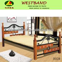 wood and mental bunk bed/ bedroom furniture/GZ furniture/bedding set