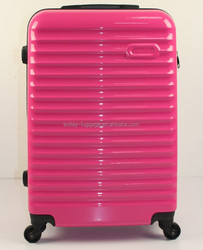 Red Polycarbonate Trolley Suitcase / girls travel luggages with mute wheels