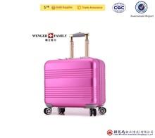 Hard shell 18 inch aluminum luggage suitcase