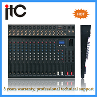 Cheap price professional 16 channel dj audio mixer with DSP effect