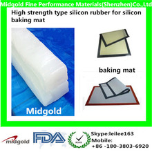 High strength type silicon rubber for silicon baking mat