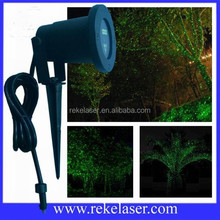 AC 12V low voltage starry green outdoor lawn laser light