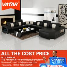 VATAR alibaba italiano double sided semi circle european style leather sofa for sale