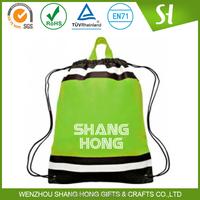 Wholesale cheap non woven shoe bag/plastic drawstring shoe bag