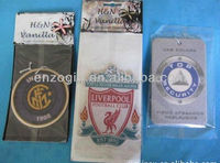 Factory OEM car freshener, Hanging Paper Car Freshener for football club