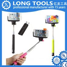 Wholesale smart phone cable monopod wirelss bluetooth selfie stick