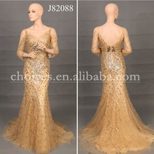 J82088 Stunning Lebanon Designer Cowl Neck Backless Mermaid Evening Dresses From Dubai
