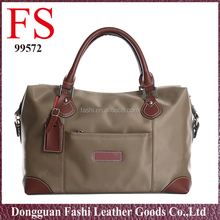 new design branded big nylon and leather travel bags