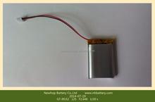 Custom 3.7v 1200mah lithium ion battery for GPS tracker