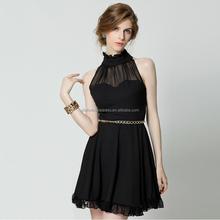 2015 new fashion women summer Korean style chiffon halter sexy evening dress party dress