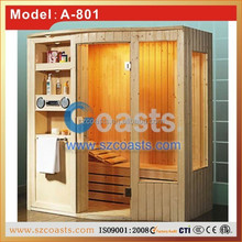 Finland wood dry sauna steam room with music and CE certificate