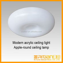 Modern acrylic ceiling light apple round ceiling lamp for home decor