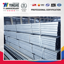 galvanized square steel pipe,seamless galvanized square tube Q195/DX51D/Q235