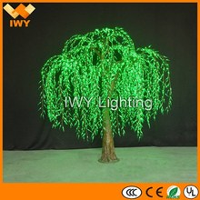 Waterproof H300cm Green Large Artificial Decorative Tree Light With CE RoHS SAA