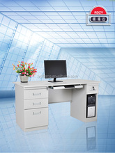 Factory direct sale stainless steel office computer desk with drawers and mainframe box