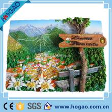 custom natural scenery 3d resin fridge magnet for promotion