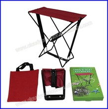 samll steel wire portable folding stool for pocket