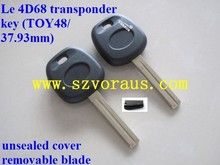 NEW LEXUS REPLACEMENT (B2)4D68 TRANSPONDER CHIP UNCUT IGNITION KEY BLANK